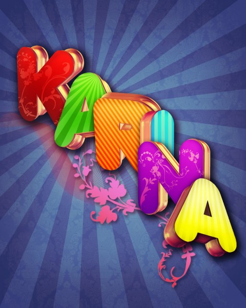 3d typographic effects in photoshop 479x600