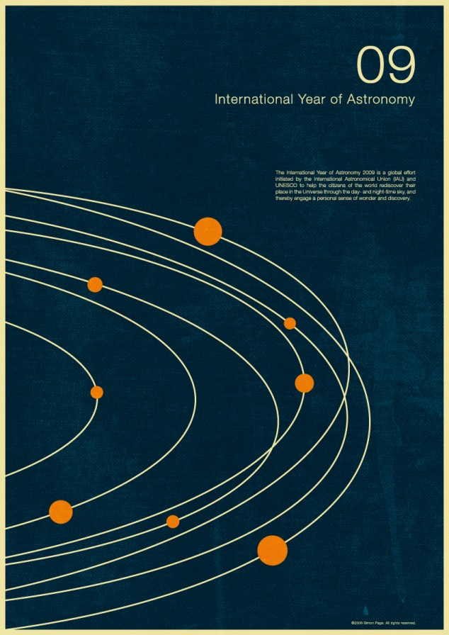 International Year of Astronomy 2009 Posters | simoncpage.com
