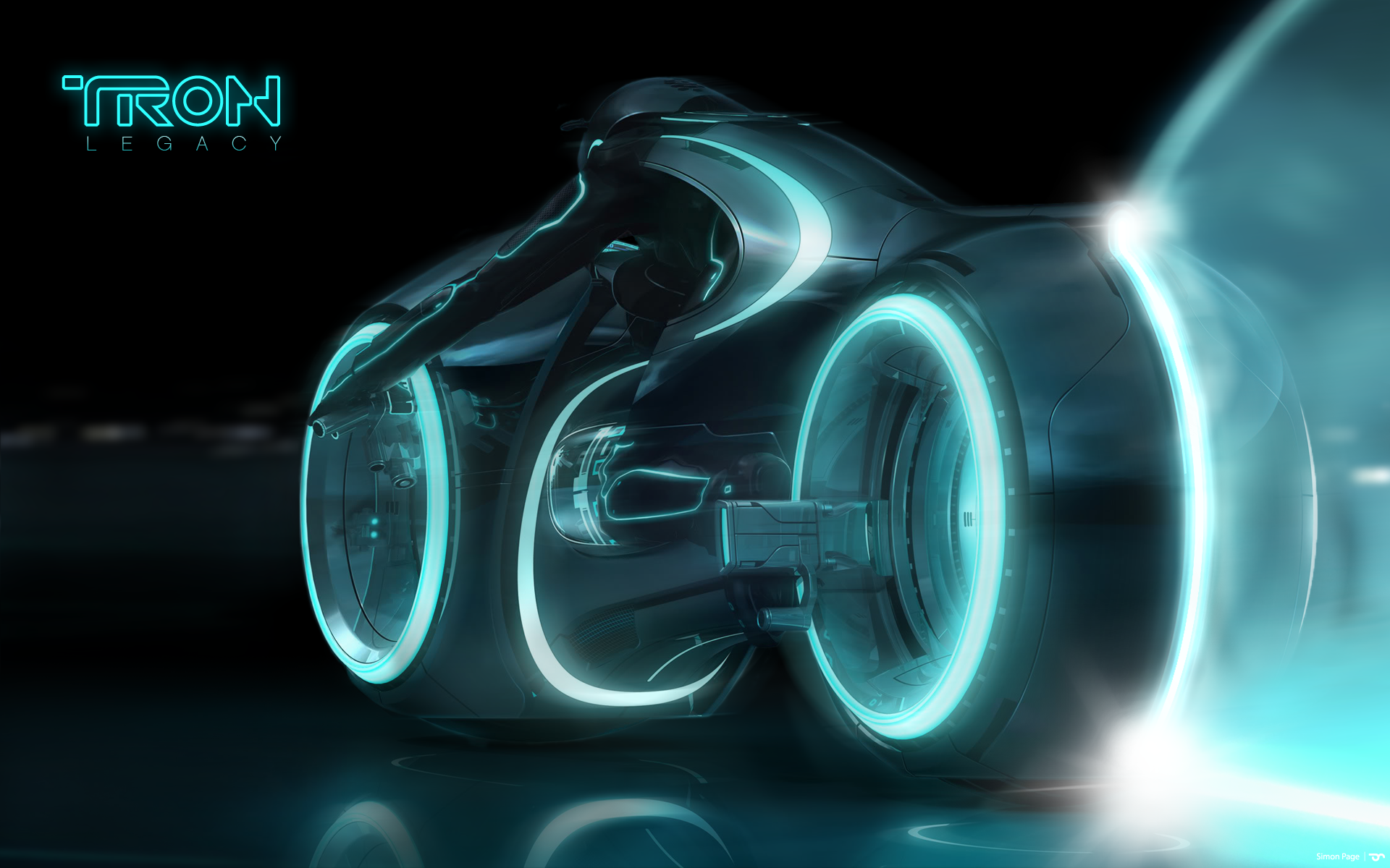 Tron Legacy Wallpaper 1920 X 1200 Lightcycle From 3D Rendering